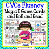 CVCe Fluency Magic E Game Cards and Roll and Read