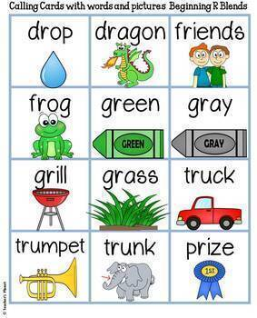 Phonics Bingo - Beginning R Blends