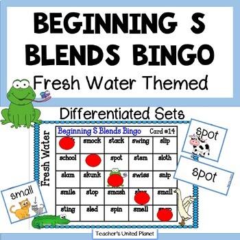 Phonics Bingo - Beginning S Blends