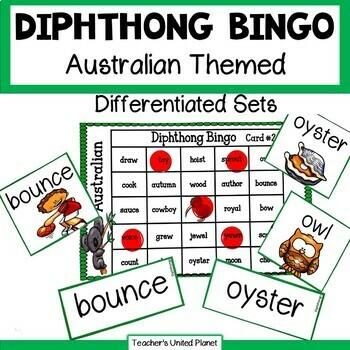 Phonics Bingo - Dipthongs