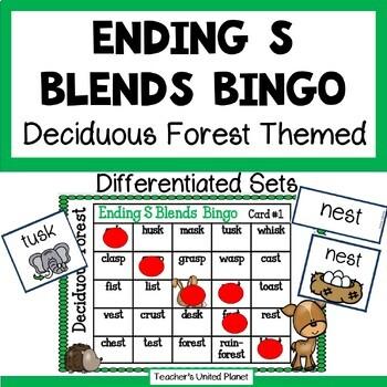 Phonics Bingo - Ending S Blends