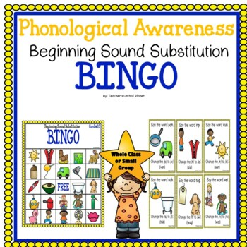 Phonological Awareness Beginning Sound Substitution Bingo