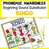 Phonological and Phonemic Awareness Beginning Sound Substitution Bingo