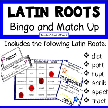 Reading Games - Latin Roots Bingo and Match Up