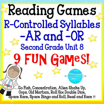 Reading Games  R-Controlled Syllables -AR and -OR