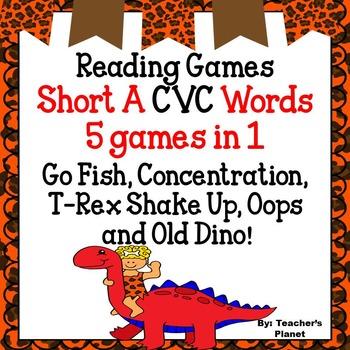 Reading Games - Short A CVC Words
