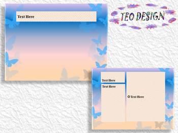 BUTTERFLY - Editable Template - slide design - PowerPoint