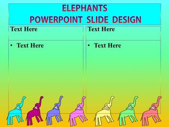 Editable Template - Elephants - PowerPoint
