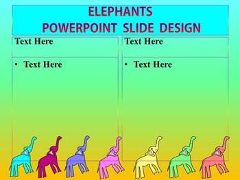 Editable Template - Elephants - PowerPoint
