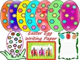 Easter Activities - Egg - Spring - Writing paper - Clip Art
