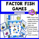 Factor Games - Factor Fish and Factor Bingo Games and Task Cards