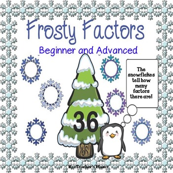 Factor Games - Frosty Factors Game and Task Cards