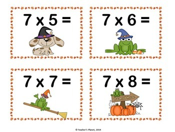 Halloween Multiplication Games - War and Candy Corn Shake Up