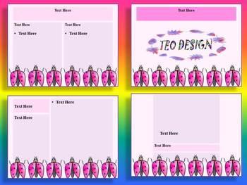 Ladybugs - PowerPoint slide design - Editable