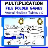 Multiplication Games - File Folder Animal Habitats Bundle