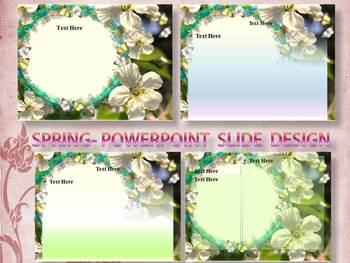 Editable Template - Flowers - PowerPoint slide design