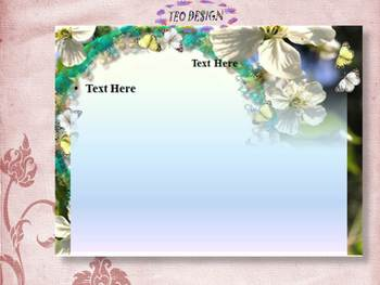 Spring - Flowers - Editable Template - PowerPoint slide design