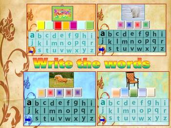 Write the words -  interactive PowerPoint presentation