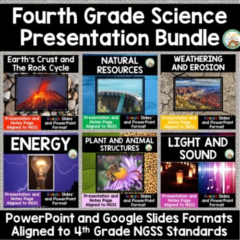 4th Grade NGSS PowerPoint Bundle