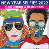 New Years 2021 Selfie Coloring Pages | Goals and Resolutions
