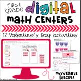 1st Grade Valentine's Day Math Digital Centers