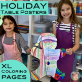 Christmas and Hanukkah Coloring Table Posters | XL Coloring Pages
