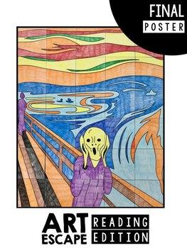 "Art Escape: Edvard Munch ""The Scream"" (Reading Edition)   Escape Room ELA"