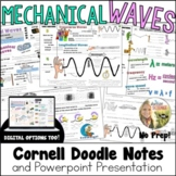Waves Transverse Longitudinal Cornell Doodle Notes and Powerpoint