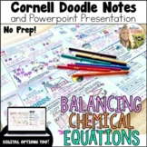 Balancing Chemical Equations Cornell Doodle Notes Distance