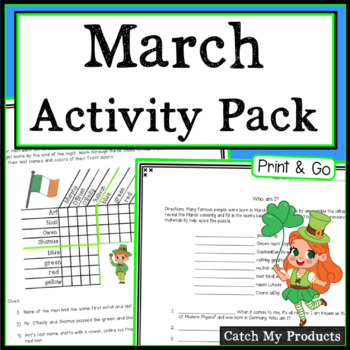 March Activities Bundle - Logic Puzzles and More