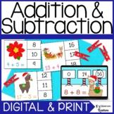 Digital and Printable Christmas Addition and Subtraction M