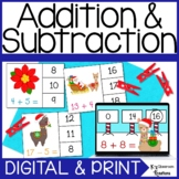 50% off 24 hours Christmas Addition and Subtraction Math Center