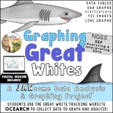 Graphing and Data Analysis Great White Shark Project