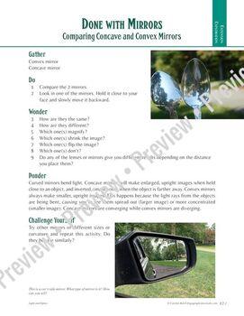 Lenses and Optics: Investigating Concave and Convex Mirrors—4 Lab Bundle w/ CER