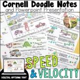 Speed and Velocity Motion Cornell Doodle Notes and Powerpoint
