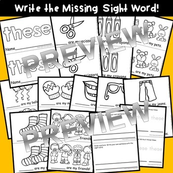 Sight Word Fluency Reader THESE