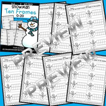 Snowman Ten Frames 0-20