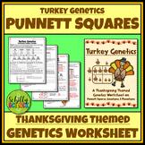 Thanksgiving Punnett Square Worksheet - Turkey Genetics