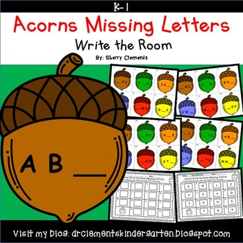 Acorns Write the Room (Missing Letters)