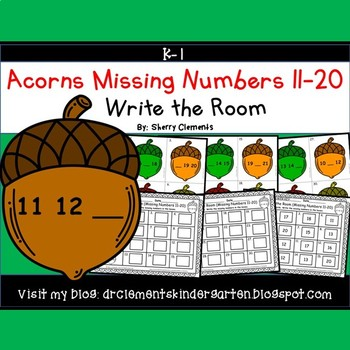Acorns Write the Room (Missing Numbers 11-20)