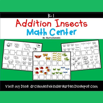 Addition Math Center (Insects)