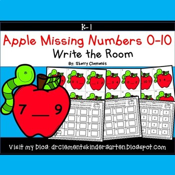 Apples Write the Room (Missing Numbers 0-10)