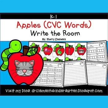 Apples Write the Room (CVC Words)