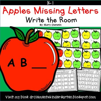 Apples Write the Room (Missing Letters)
