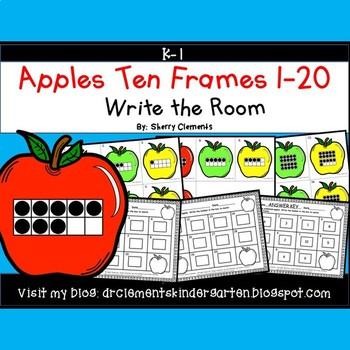 Apples Write the Room (Ten Frames 1-20)