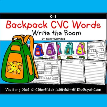 Backpacks Write the Room (CVC Words)