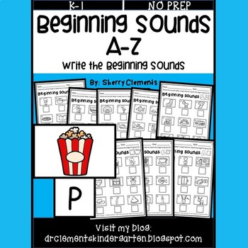 Beginning Sounds A-Z (Write the Beginning Sounds)