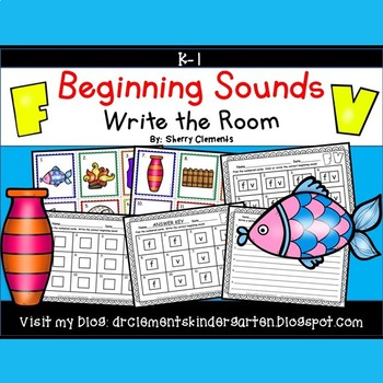 Beginning Sounds (F and V) Write the Room