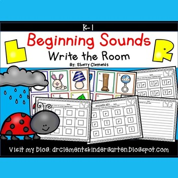 Beginning Sounds (L and R) Write the Room