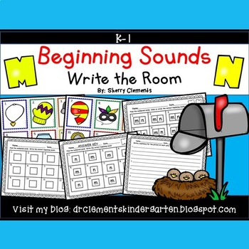 Beginning Sounds (M and N) Write the Room